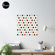 We LOVE the 80s - VINTAGE grid pattern Poster