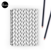 Geometric pattern - simple, black & grey Spiral Notebook