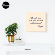 Famous Music Composers - Wolfgang Amadeus Mozart Quote of Music Canvas Print