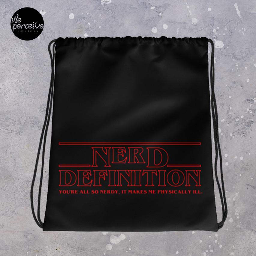 Nerd Definition Drawstring bag in black