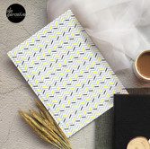 Geometric pattern - simple, black, grey, yellow Hardcover Journal