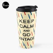 KEEP CALM AND GO VINTAGE Travel Mug