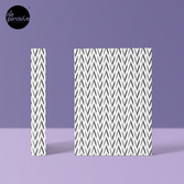 Geometric pattern - simple, black & grey Hardcover Journal