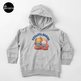 AXOLOTL WAVE Style 2 - We are the CUTEST CREATURE in the Water World Toddler Pullover Hoodie in Heather Grey