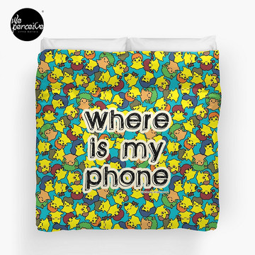 Welcome to SOCIAL MEDIA ERA - Where is my PHONE? Duvet Cover King size