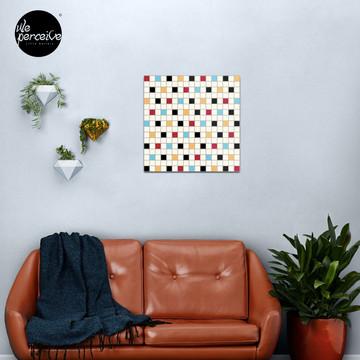 We LOVE the 80s - VINTAGE grid pattern Metal Print