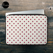 Hong Kong restaurant style - red and white VINTAGE floor tile Laptop Sleeve