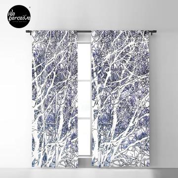 Violet forest Blackout Curtain