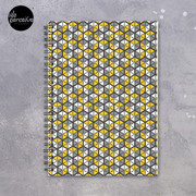 Geometric Cubes Spiral Notebook