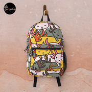 AXOLOTL WAVE Style 2 - We are the CUTEST CREATURE in the Water World Backpack