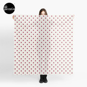 Hong Kong restaurant style - red and white VINTAGE floor tile Scarf