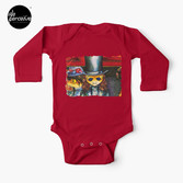 Movie inspired collection - Dracuzard - Count Dracula Baby One-Piece in red