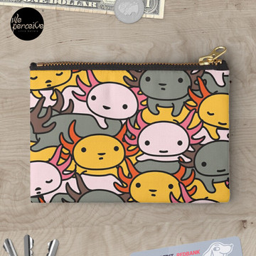 AXOLOTL WAVE Style 2 - We are the CUTEST CREATURE in the Water World Zipper Pouch