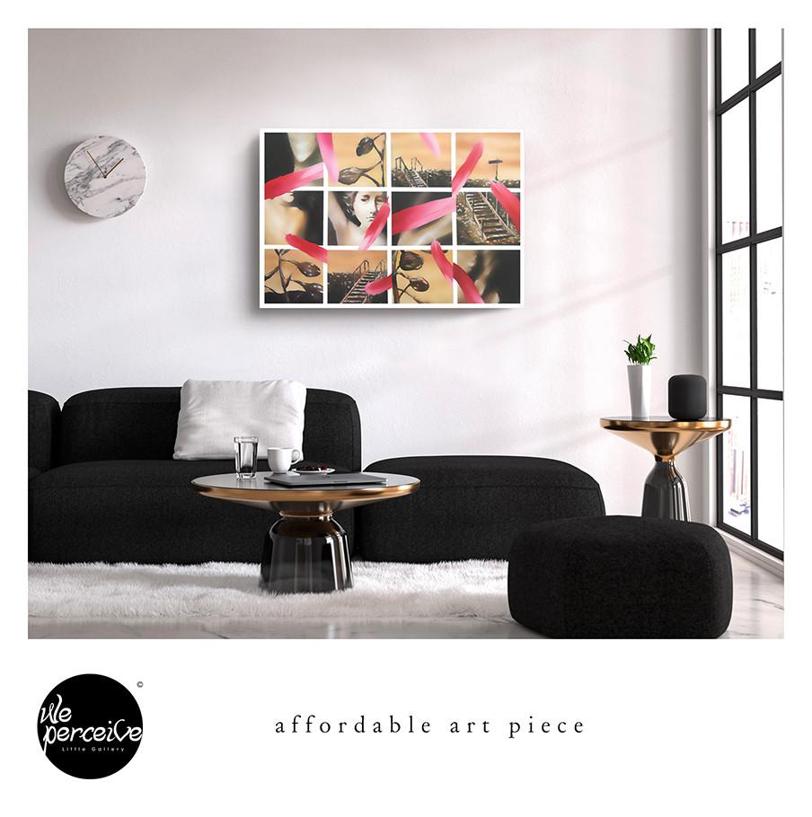 Monotone canvas art print, wall art