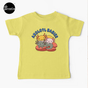 AXOLOTL WAVE Style 2 - We are the CUTEST CREATURE in the Water World Kids T-Shirt in Light Yellow