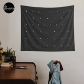 Create the future wall tapestry in black