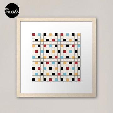 We LOVE the 80s - VINTAGE grid pattern Framed Art Print