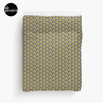 Geometric Cubes Duvet Cover