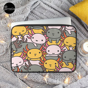 AXOLOTL WAVE Style 2 - We are the CUTEST CREATURE in the Water World Laptop Sleeve