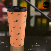 DAY - Egypt pyramid and cactus pattern in ORANGE Travel Mug