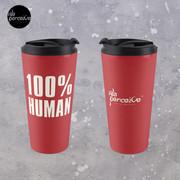 100% HUMAN - Awareness of Humanity Travel Mug