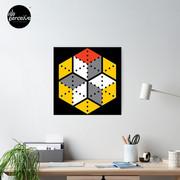 Geometric Cubes Poster