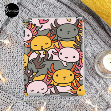 AXOLOTL WAVE Style 2 - We are the CUTEST CREATURE in the Water World iPad Case & Skin