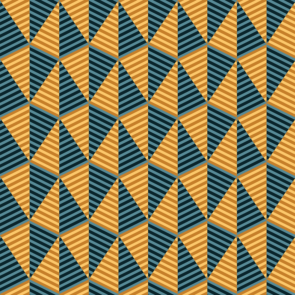 Egypt day and night yellow and blue pyramid geometric pattern