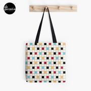 We LOVE the 80s - VINTAGE grid pattern Tote Bag