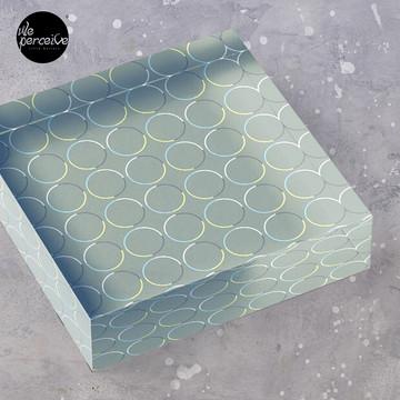 Minimal Circle Pattern in Charcoal Acrylic Block