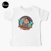 Bearded Dragon Deluxe Pomade Japanese Cartoon Baby White T-Shirt