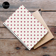 Hong Kong restaurant style - red and white VINTAGE floor tile Spiral Notebook