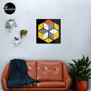 Geometric Cubes Metal Print