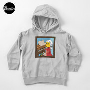 Bearded Dragon Illustration with Wolfgang Amadeus Mozart Cosplay Toddler Pullover Hoodie