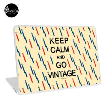 KEEP CALM AND GO VINTAGE Laptop Skin