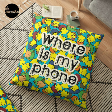 Welcome to SOCIAL MEDIA ERA - Where is my PHONE? Floor Pillow