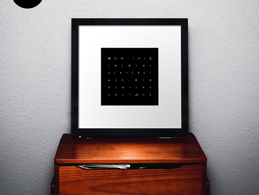 Today's wall decor idea: Black and white FRAMED PRINT
