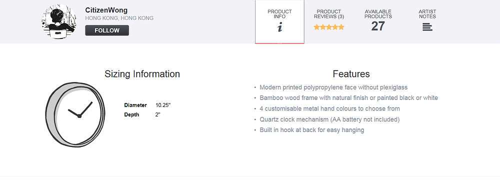PRODUCT INFO FEATURES