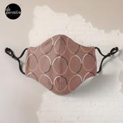 Minimal Circle Pattern in Mocha Mask