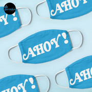 AHOY - Energetic and Positive Style in Sky Blue Mask