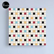 We LOVE the 80s - VINTAGE grid pattern Canvas Print