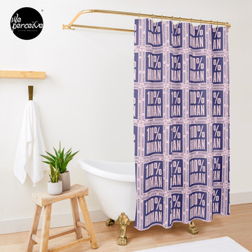 100% HUMAN - Distortion of Humanity Shower Curtain