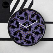 WE LOVE M.C. ESCHER style - Axolotl symmetrical pattern Clock