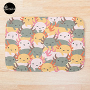 AXOLOTL WAVE - We are the CUTEST CREATURE in the Water World Bath Mat