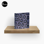 WE LOVE M.C. ESCHER style - Axolotl symmetrical pattern Acrylic Block