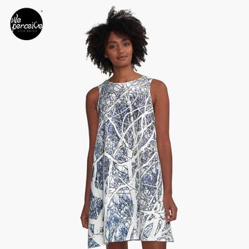 Violet forest A-Line Dress