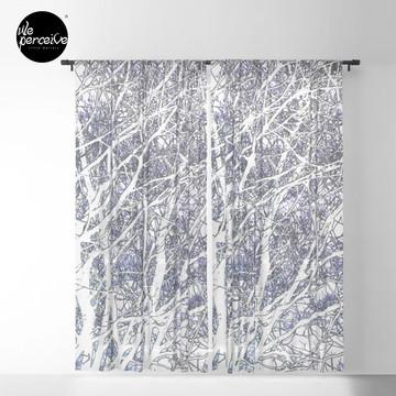 Violet forest Sheer Curtain