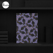 WE LOVE M.C. ESCHER style - Axolotl symmetrical pattern Hardcover Journal