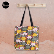 AXOLOTL WAVE Style 2 - We are the CUTEST CREATURE in the Water World Tote Bag
