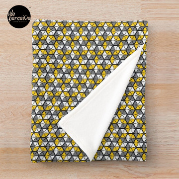 Geometric Cubes Throw Blanket